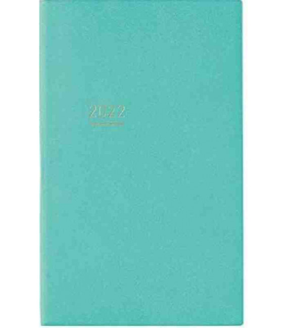 Jibun Techo Kokuyo - Agenda Semainier 2022 - Lite Mini Diary - B6 Slim - Bleu turquoise