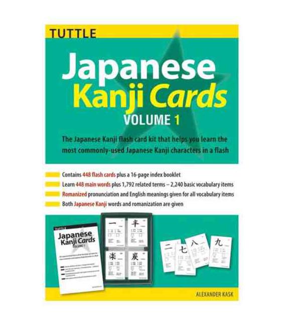 Japanese Kanji Cards Kit Volume 1
