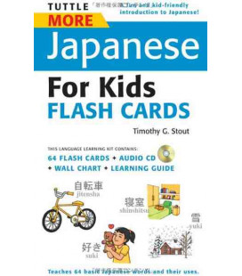 Tuttle More Japanese for Kids Flash Cards Kit (contient un CD audio)