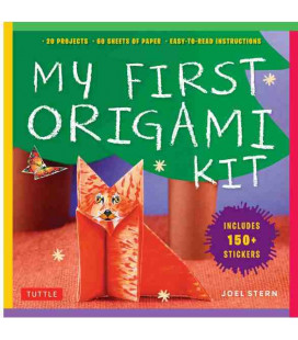My First Origami Kit [Kit d'Origami contenant : 1 livre + 60 feuilles + 150 stickers + 22 projets]