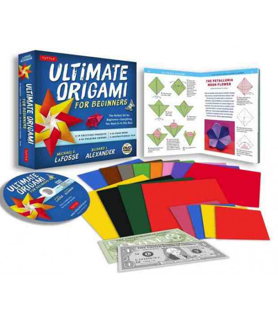 Ultimate Origami for Beginners Kit [Origami Book, DVD, 62 Papers, 19 Projects]